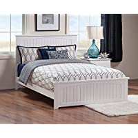 Nantucket Bed with Matching Foot Board, Queen, White