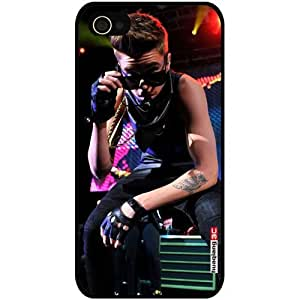 4GJST-63B for iPhone 4 4S iPhone4 At&t Sprint Verizon Justin Bieber Acoustic Wallpaper Pattern Hard Case Back Cover with Huaqiang3c LOGO