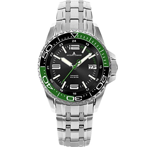 JACQUES LEMANS Men's Liverpool Diver Automatic Stainless Steel