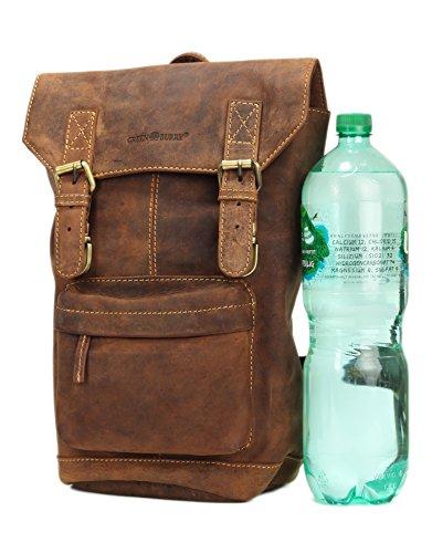 Greenburry Vintage Sac à dos cuir 42 cm compartiment Laptop brown