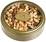 Bergin Nut Company Deluxe Mixed Nuts, Roasted & Salted, 14-Ounce Tin