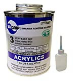 IPS Weld-On 3 Acrylic Plastic Cement with Pint and Weld-On Applicator Bottle with Needle, Clear