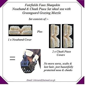 Faux Sheepskin Grazing Muzzle Set (Cream) LR Leisure