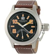 Akribos XXIV Men's AKR407OG Explorer Scouter Orange Quartz Canteen Watch