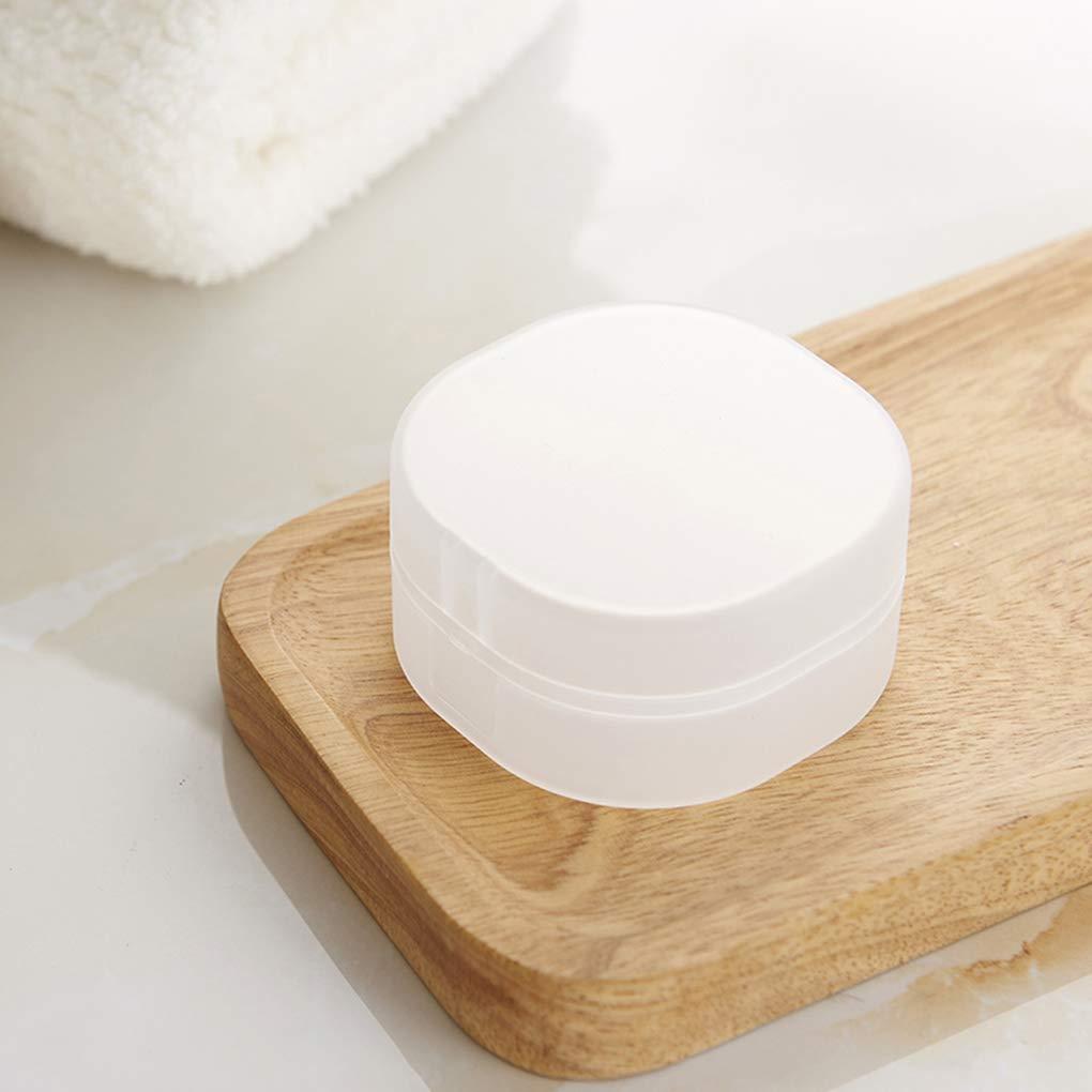 OmkuwlQ Square Travel Portable Soap Box Translucent Plastic Aerobic Handmade Sponge Soap Case Bathroom Supplies by OmkuwlQ (Image #2)