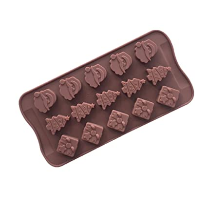 joyi 15 cavity silicone christmas chocolate candy soap molds cake mould baking molds random color
