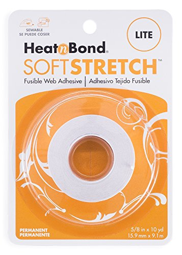 HeatnBond SoftStretch Lite Iron-On Adhesive, 5/8 Inch x 10 Yards (Needles Lite Knit)
