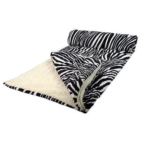 Il Coccolo Plaid.Il Coccolo 6520 Plaid 130 X 160 Cm Modello Zebra Bianco