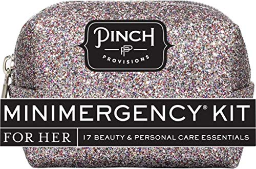 Pinch Provisions Glitter Bomb Minimergency Kit for Her, Silver Multi Glitter -
