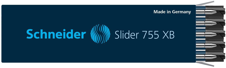10 x Schneider Slider 755 XB Pen Refill, Black