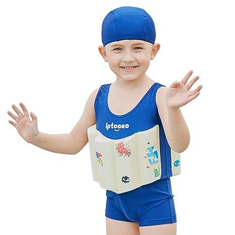 Traje de baño de la flotabilidad de los niños, Azul oscuro ...