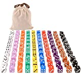 Ultimate Right Angle 6-Sided Multicolored Dice Set - 100 Dice
