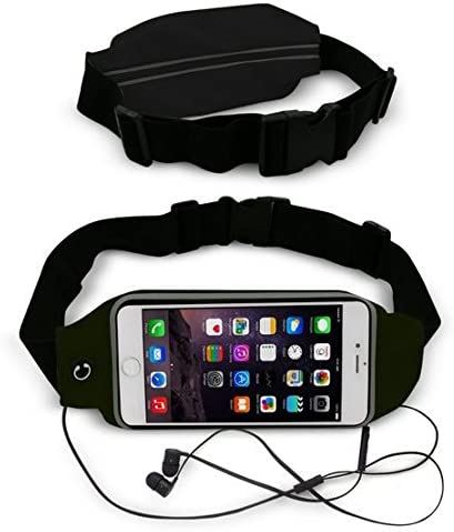 Theoutlettablet/® Cintur/ón Impermeable al Sudor y Reflectante con Bolsillo para Transporte Smartphone Samsung Galaxy S3 S4 S5 S6 S7 S8 Edge K5 Color Negro Correr Ri/ñonera Deportivo para Running