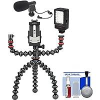 Joby GorillaPod Mobile Tripod Rig Microphone + LED Video Light + Kit Shooting Videos Smartphones
