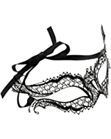 Luxurious Venetian Masquerade Filigree Mask - Malleable Laser-cut Metal With Rhinestones - Regal/Royalty Series - for Masquerade Ball, Mardi Gras, Halloween Costume Party, New Year's Party