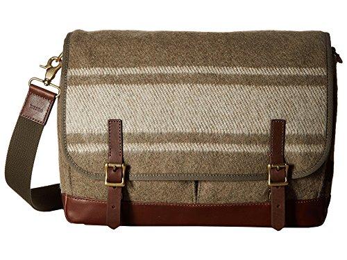 Fossil Defender Laptop Messenger Brief Bag with Removable Strap Olive by Online Brands