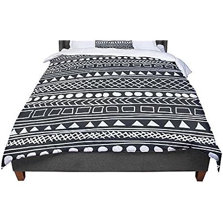 KESS InHouse Fimbis Redefined Bw Black White King Cal King Comforter 104 X 88