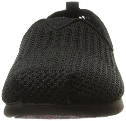 Skechers BOBS from Women's Plush Lite-Be Cool Flat Black/Black pvHnBShGi