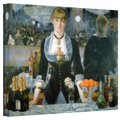 ArtWall A Bar at The Folies-Bergere Masterpiece Gallery Wrapped Canvas by Edouard Manet, 36 by 48-Inch ()