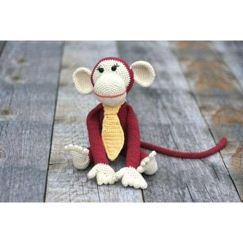 Hand Crocheted Monkey Toy for Baby by our green house