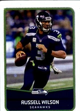 2016 Panini Stickers  449 Russell Wilson Seattle Seahawks Football Card 22457f857