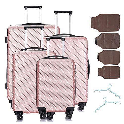 4 Pcs Luggage Sets Suitcase Sets Spinner Wheel Hardshell Lightweight Luggage 18