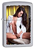 Zippo Lighter: Girl in Oxford - Satin Chrome