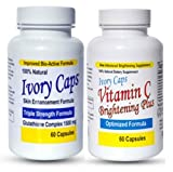 Ivory Caps Skin Whitening Lightening 1500mg Glutathione Support Pill + Vitamin C Brightening Plus (Pack of 1) by YouLookLight-USA