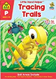 School Zone - Tracing Trails Workbook - Ages 3 to 5, Preschool to Kindergarten, Pre-Writing, Intro to Shapes, Following Directions, Alphabet (School ... Helper Book Series) (Little Hand Helpers)