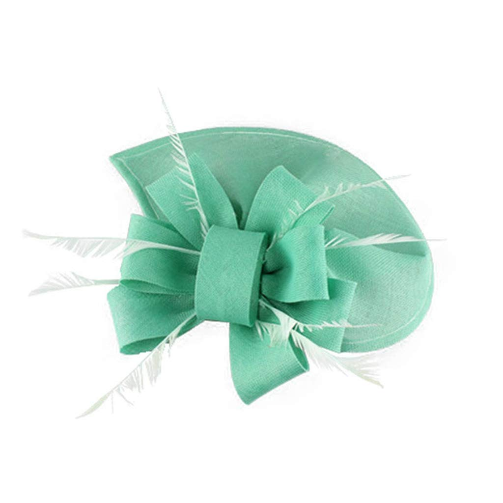 Alihao Fascinator Hats for Women Feather Bows Pillbox Hat Ladies Evening Party Headwear