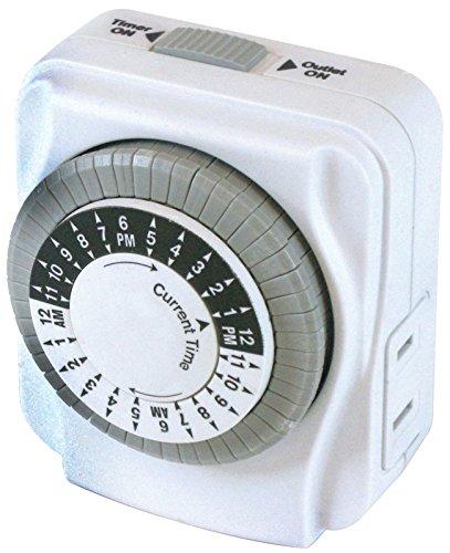 POWER ZONE TNI2423 Powerzone Heavy Duty Indoor Electromechanical Timer, 125 V, 15 A, 24 Hr