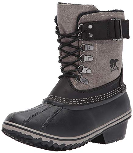Sorel Women's Winter Fancy Lace II Boot Mid Calf, Black, Kettle, 9 B US
