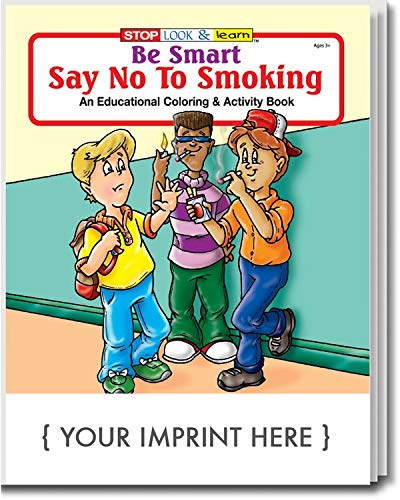 ZOCO Be Smart, Say No to Smoking Kid's Coloring & Activity Books in Bulk (Qty of 250) - Customized with Your Logo or Imprint