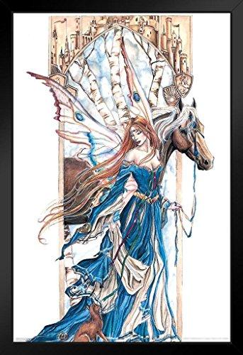 Fairy Framed Print - Pyramid America Fairy and Horse by Nene Thomas Art Print Framed Poster 14x20 inch