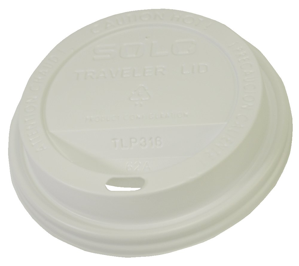 Image of Health and Household Starbucks SBK1117280 Plastic Hot Cup Lids, 12 oz (Pack of 1000)
