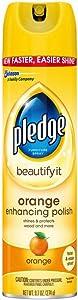 Pledge Orange Clean Furniture Spray 9.70 oz (Pack of 4)