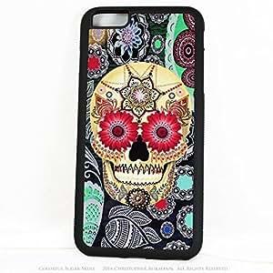 Colorful Sugar Skull iPhone 6 Plus case - Sugar Skull Paisley Garden - iPhone 6 Plus BUMPER Case with Aluminum and Rubber