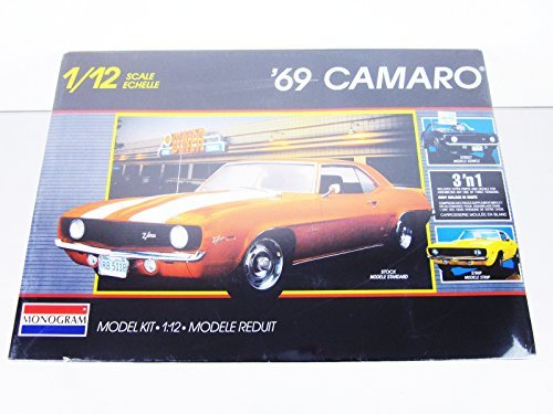 (1969 Camaro Z/28 Monogram 1/12 Scale Model Kit 3 in 1 MIB Mint in Sealed Box For 13+ )