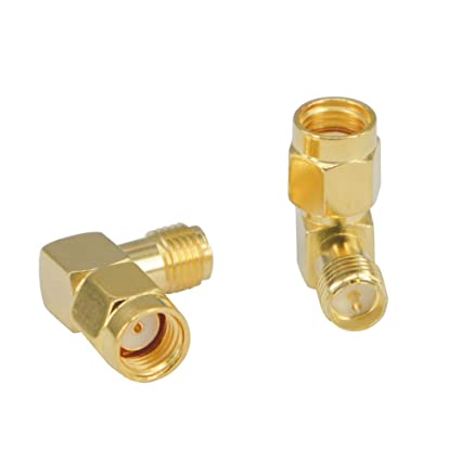 Car Electronics & Accessories Antennas Accesssory Gold Plated SMA Male to SMA Male Adapter with 90 Degree Angle Car Electronics Accessories