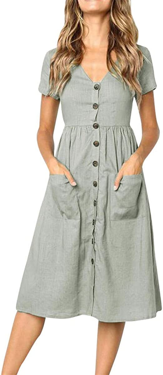 Yaseking Summer V-Neck Short Sleeve