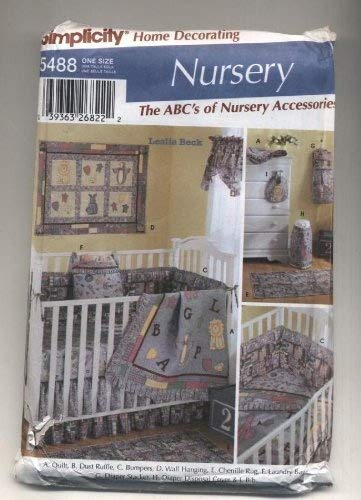 Simplicity Nursery Accessories Sewing Pattern # 5488