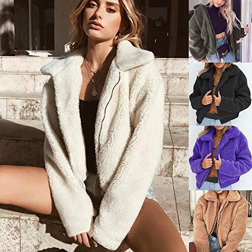 Manteau Parka Laine Hiver De Manches Chaudes Outdoor Covermason Chaud Court Outerwear Veste Femmes Artificielle Longue Boutons Coat Violet Blouson dwZqSX