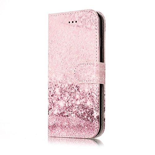 Ultra Slim Case para iphone 7 Funda Libro Suave PU Leather Cuero- Sunroyal ® Bookstyle Cobertura Wallet Case Con Flip Cover Cierre Magnético,Función de Soporte Billetera con Tapa para Tarjetas Protecc E-10