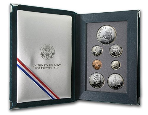 1995 S US Mint 7-piece Prestige Proof Set with Civil War Silver $1 and Commemorative 1/2 PR OGP