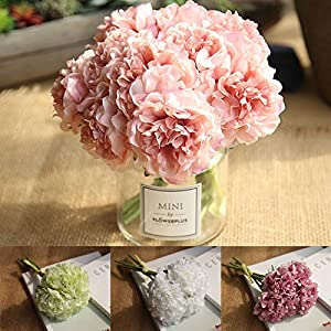 Artificial Dried Flowers - Home Party Bride Handheld Flowers 5 Heads Simulation Peony Bouquet Wedding Decor Artificial Peonies - Arrangments Lactiflora Luoyang Flower Rockii Peonys Suffruticosa G 14