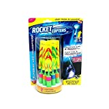 SkyGold Rocket Copters - The Amazing Slingshot LED Helicopters Hot Led Light Flying Small Arrows Flash Bamboo Dragonfly Flying Rocket(Three launchers, six rockets)