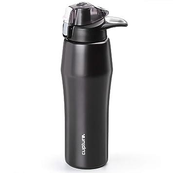 Amazon.com: Cupture Action - Botella de agua con tapa ...