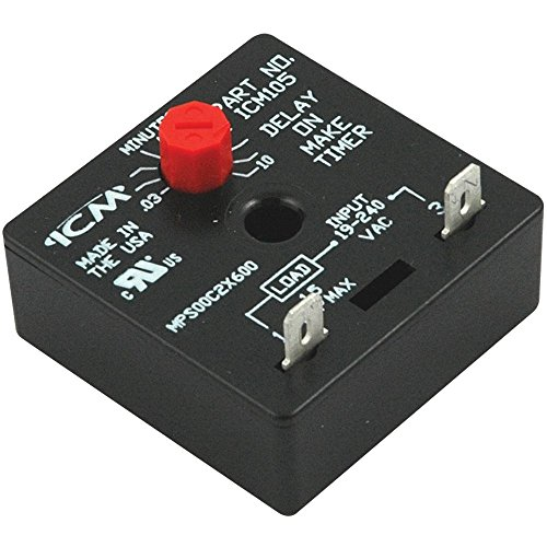 - ICM Controls ICM105 Delay-on-Make Timer with 0.03-10 Minute Adjustable Delay, Universal 18-240 VAC