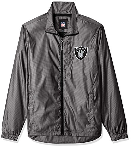 G-III Sports NFL Oakland Raiders The Executive Full Zip Jacket, X-Large, Charcoal Gray