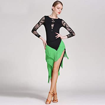 WQWLF Falda de Baile Latino para Adultos Vestido de Baile Latino ...